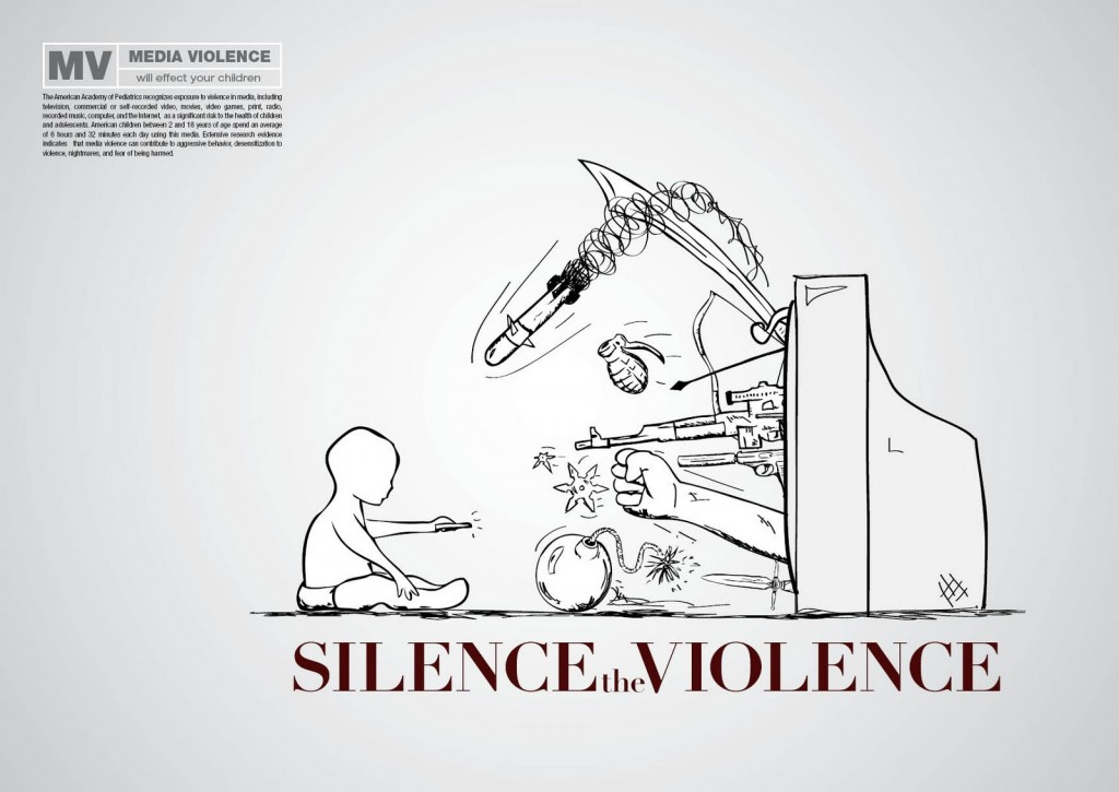 By Nate Londa: http://www.behance.net/gallery/Silence-the-Violence/952677.