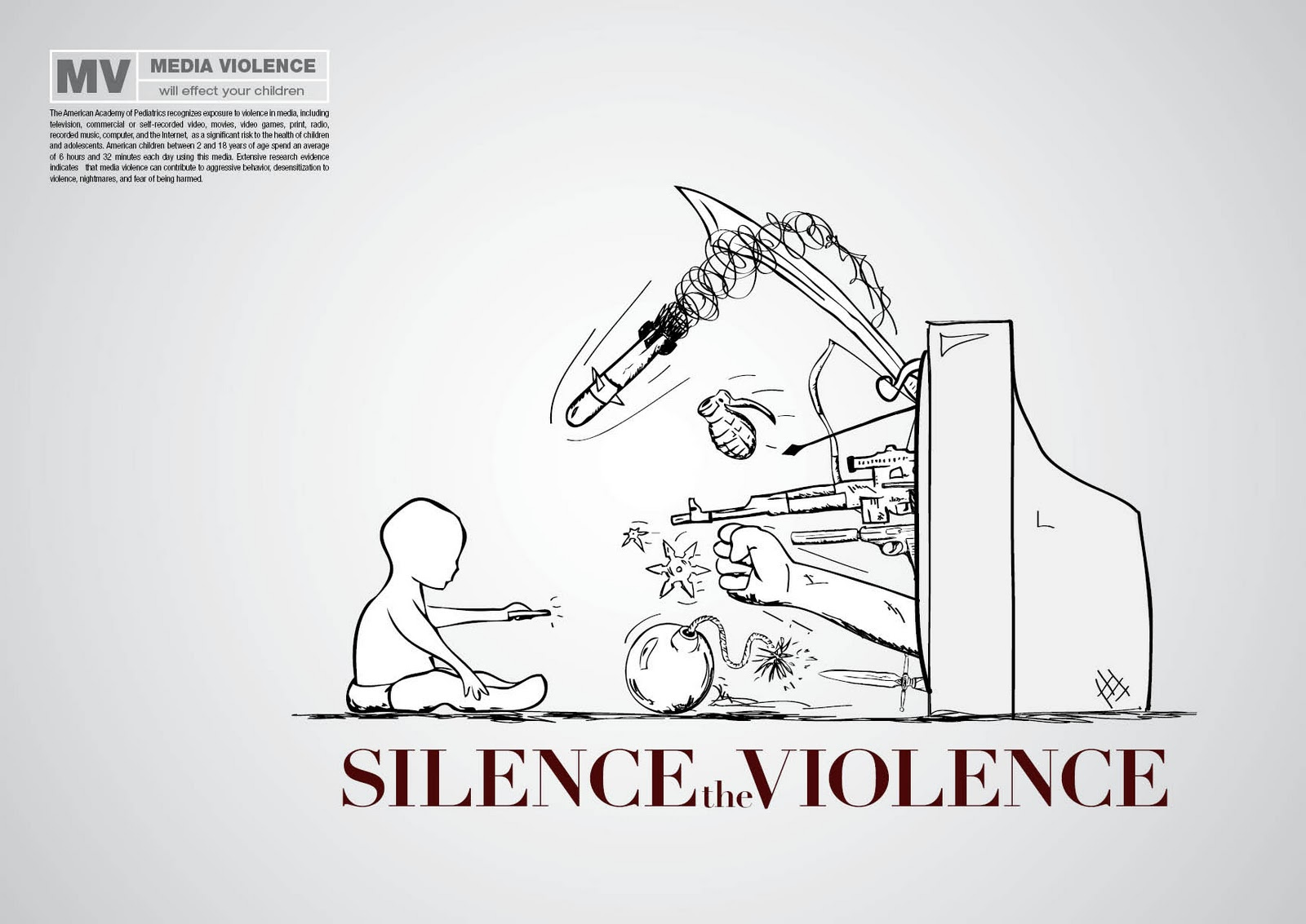 thesis statement on violence on tv Effects of television violence and children outline: ithesis staement: although the television serves as a form of entertainment, when you abuse its use, and make it.