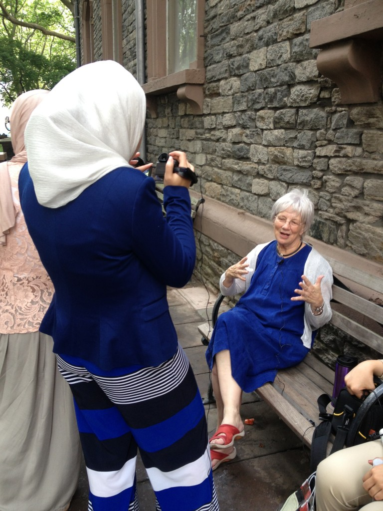 My students interviewing Rita Henley Jensen, founder of Women's eNews, in NYC last summer.